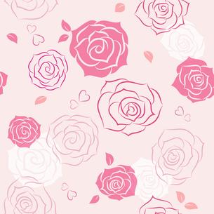 バラのシームレスパターンのイラスト素材 [FYI01244736]