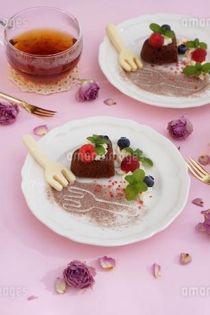 バレンタイン~ハートのガトー・オ・ショコラ の写真素材 [FYI01244922]
