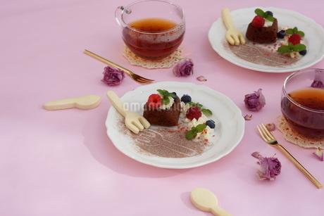 バレンタイン~ハートのガトー・オ・ショコラ の写真素材 [FYI01244924]