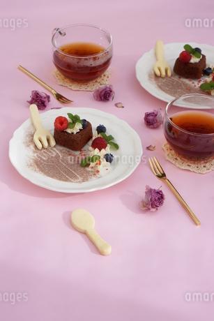 バレンタイン~ハートのガトー・オ・ショコラ の写真素材 [FYI01244928]