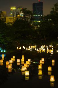 灯篭流しのイメージの写真素材 [FYI01245044]