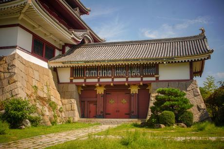 伏見桃山城堤門の写真素材 [FYI01245122]