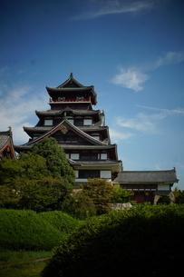 伏見桃山城天守閣の写真素材 [FYI01245127]
