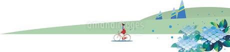 紫陽花と自転車の写真素材 [FYI01245210]