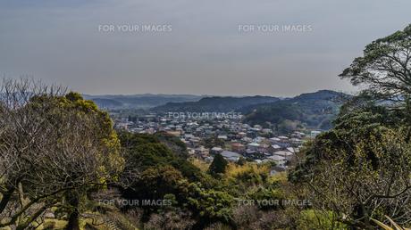 春の館山城址から見た風景の写真素材 [FYI01245661]