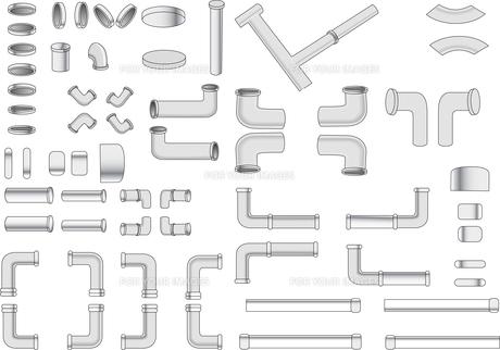 鉄パイプなどの配管のイラスト素材 [FYI01245831]