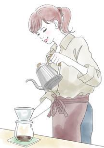 カフェの女性のイラスト素材 [FYI01245907]