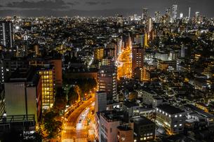 東京の夜景(文京シビックセンターから)の写真素材 [FYI01246063]