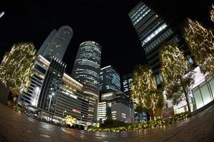 名古屋駅前の夜景の写真素材 [FYI01246066]