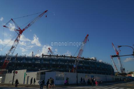 新国立競技場の建設現場の写真素材 [FYI01246114]