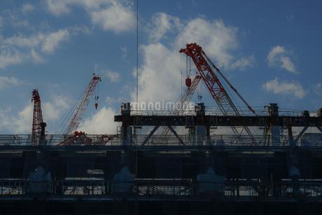 新国立競技場の建設現場の写真素材 [FYI01246117]