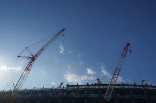 新国立競技場の建設現場の写真素材 [FYI01246118]