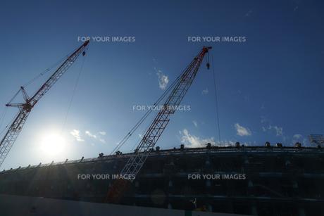 新国立競技場の建設現場の写真素材 [FYI01246120]