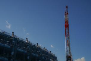 新国立競技場の建設現場の写真素材 [FYI01246121]