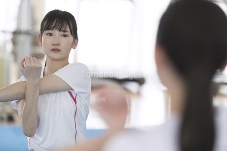 ストレッチをする日本人女性の写真素材 [FYI01246316]