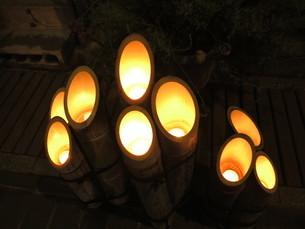 竹灯りの写真素材 [FYI01246394]