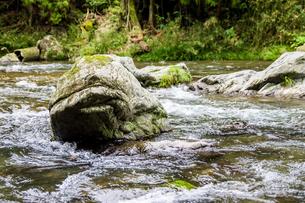 岩と急流の写真素材 [FYI01247012]