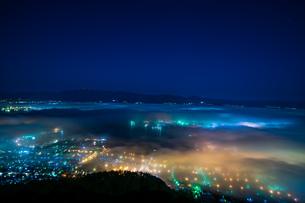 函館雲海夜景の写真素材 [FYI01247042]