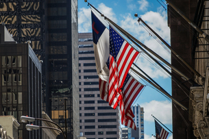 トランプタワーと星条旗の写真素材 [FYI01247062]
