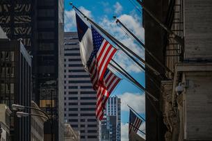 トランプタワーと星条旗の写真素材 [FYI01247063]