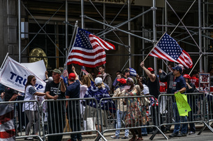 大統領支持者の集会の写真素材 [FYI01247069]