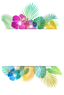 夏のトロピカルイメージ 背景素材のイラスト素材 [FYI01247081]