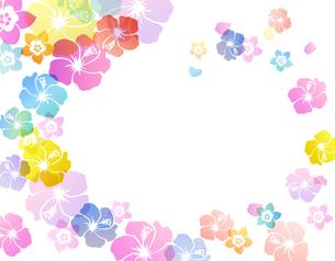 夏のトロピカルイメージ スパイラルのイラスト素材 [FYI01247109]