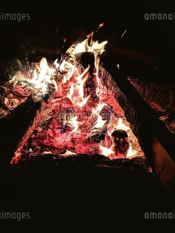 たき火 写真素材の写真素材 [FYI01247236]