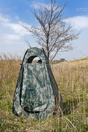 野鳥撮影用のテントの写真素材 [FYI01247278]