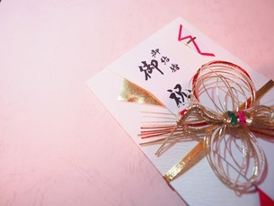 ご祝儀袋 ご結婚祝いの写真素材 [FYI01247521]