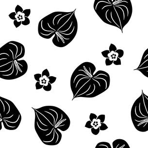 トロピカル模様 シームレスのイラスト素材 [FYI01247641]