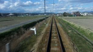 加古川線の線路(兵庫県)の写真素材 [FYI01247772]