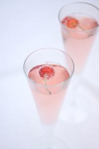 サクランボのシャンパンの写真素材 [FYI01247836]