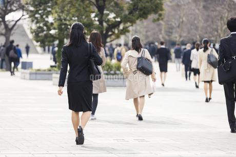 若い女性の通勤風景の写真素材 [FYI01247965]