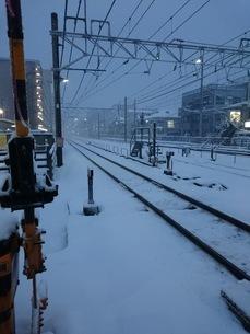 雪とレールの写真素材 [FYI01248709]