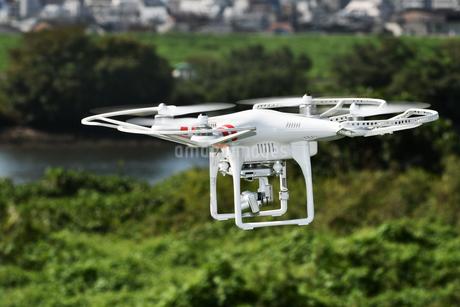 空撮専用の小型ドローンの写真素材 [FYI01248850]