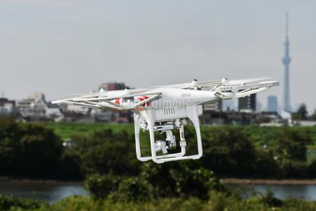 空撮専用の小型ドローンの写真素材 [FYI01248851]