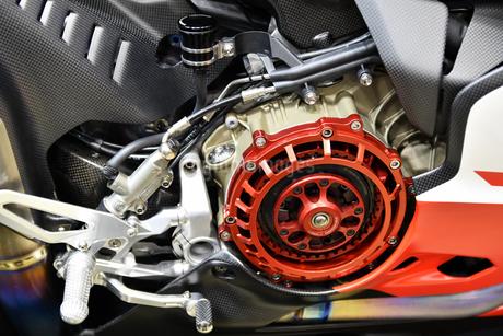 輸入バイクのエンジンの写真素材 [FYI01248908]