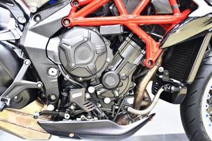 輸入バイクのエンジンの写真素材 [FYI01248909]