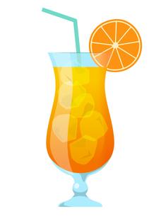 トロピカルジュース オレンジのイラスト素材 [FYI01248996]