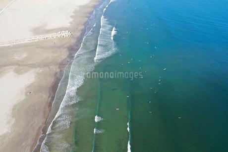大洗海岸の空撮の写真素材 [FYI01249036]