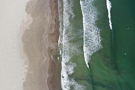 大洗海岸の空撮の写真素材 [FYI01249038]