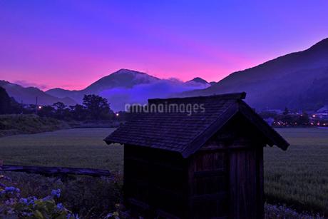 田舎の朝焼けの写真素材 [FYI01249291]
