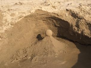 砂の造形物の写真素材の写真素材 [FYI01249325]