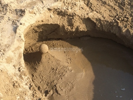 砂の造形物の写真素材の写真素材 [FYI01249326]