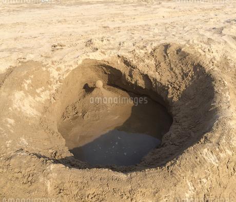 砂の造形物の写真素材の写真素材 [FYI01249327]