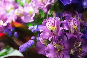 カラフルな花束 バラや小花の写真素材 [FYI01249545]