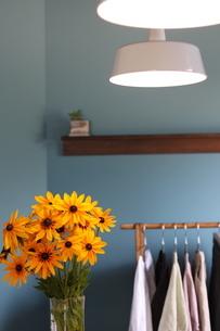 花のあるディスプレイの写真素材 [FYI01249824]