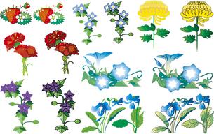 花のカット集03のイラスト素材 [FYI01249830]