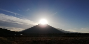 ダイヤモンド富士の写真素材 [FYI01249889]